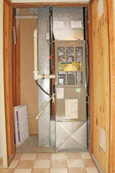 The Furnace Is Located In A Dedicated Closet In The Lower