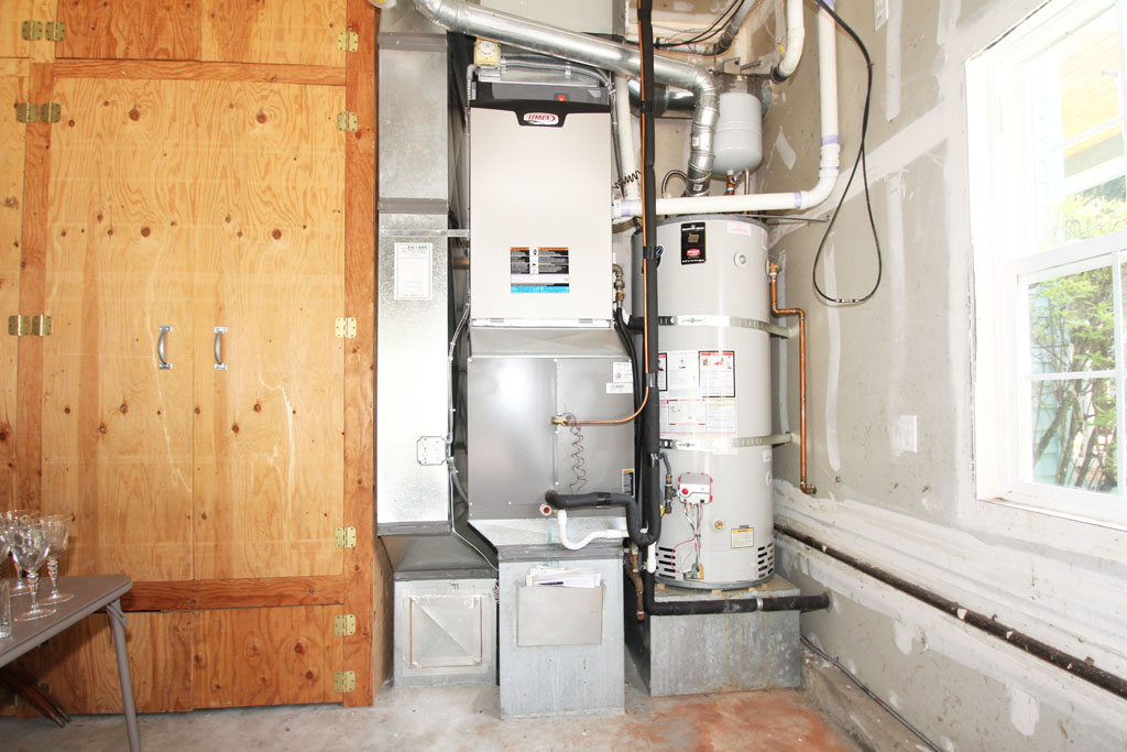 This Home Has A Gas Furnace And Gas Water Heater With